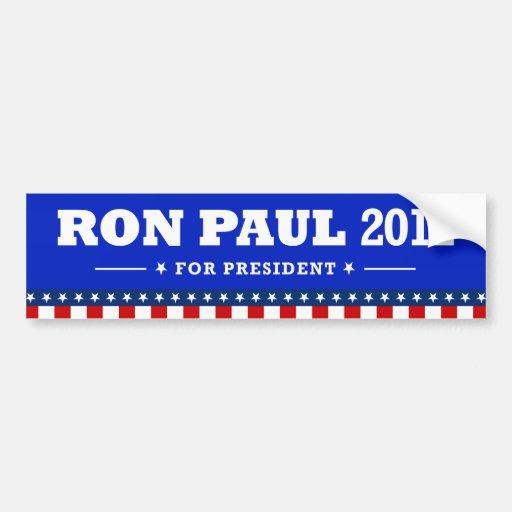 Presidente 2012 - pegatinas de Ron Paul Pegatina De Parachoque