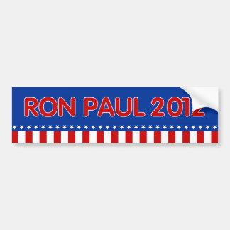Presidente 2012 - pegatinas de Ron Paul Pegatina Para Auto