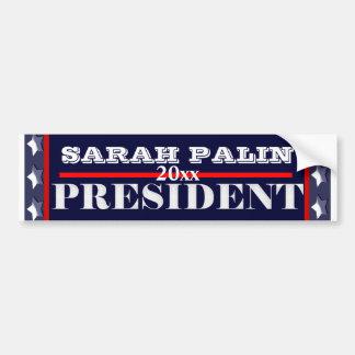 Presidente 2012 PERSONALIZAR de Sarah Palin Etiqueta De Parachoque