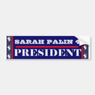 Presidente 2012 PERSONALIZAR de Sarah Palin Pegatina De Parachoque