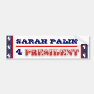 Presidente 2012 PERSONALIZAR de Sarah Palin Pegatina Para Auto