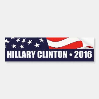 Presidente 2016 bandera americana de Hillary Pegatina Para Auto