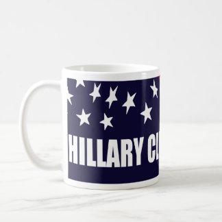 Presidente 2016 bandera americana de Hillary Taza Básica Blanca