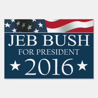 Presidente 2016 BANDERA americana de Jeb Bush Señales