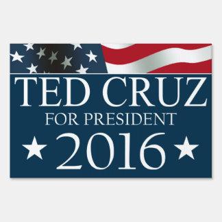 Presidente 2016 BANDERA americana de Ted Cruz Letrero