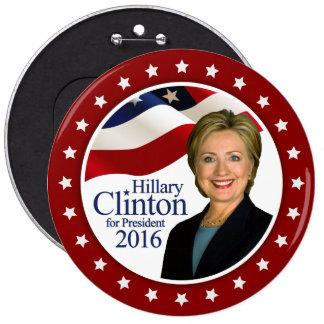 Presidente 2016 botón de Hillary Clinton CUALQUIE Pin Redondo De 6 Pulgadas