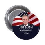 Presidente 2016 botón de Jeb Bush Pin Redondo De 2 Pulgadas