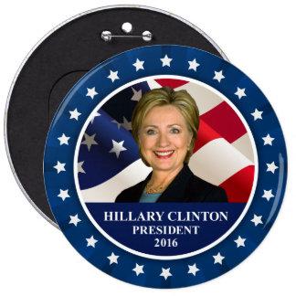 Presidente 2016 botón enorme azul de Hillary Pin Redondo De 6 Pulgadas