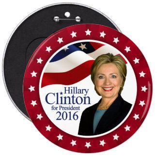Presidente 2016 botón rojo enorme de Hillary Pin Redondo De 6 Pulgadas