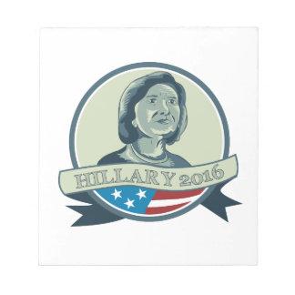 Presidente 2016 círculo de Hillary Clinton Bloc