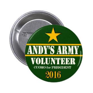 Presidente 2016 de Andrew Cuomo Pins