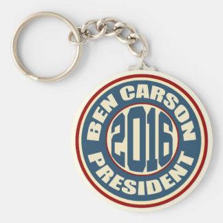 Presidente 2016 de Ben Carson Llavero Redondo Tipo Pin