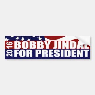 Presidente 2016 de Bobby Jindal Pegatina Para Auto