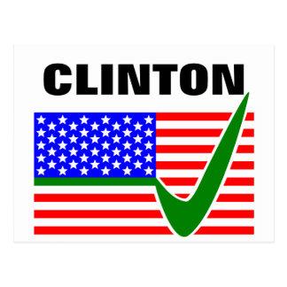 Presidente 2016 de Clinton Tarjeta Postal