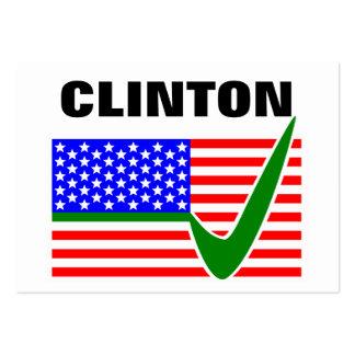 Presidente 2016 de Clinton Tarjetas De Visita Grandes