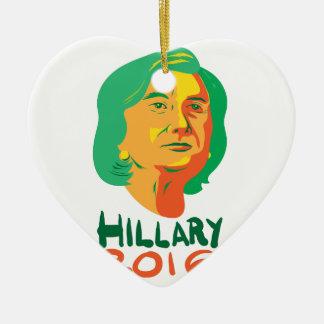 Presidente 2016 de Hillary Clinton Adorno Navideño De Cerámica En Forma De Corazón