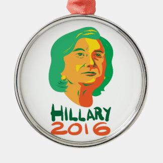 Presidente 2016 de Hillary Clinton Adorno Navideño Redondo De Metal