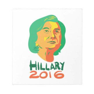 Presidente 2016 de Hillary Clinton Bloc De Papel