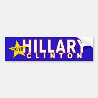 Presidente 2016 de Hillary Clinton Pegatina Para Coche