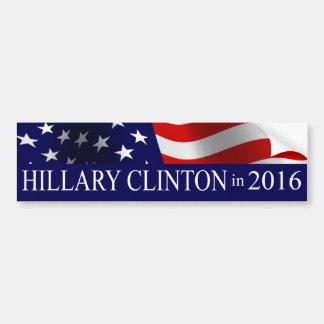 Presidente 2016 de Hillary Clinton Pegatina Para Auto