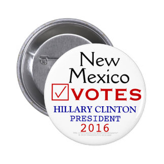 Presidente 2016 de Hillary Clinton del voto de New Pin Redondo 5 Cm