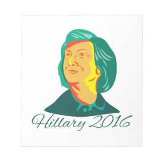Presidente 2016 de Hillary Clinton Demócrata Retro Bloc De Papel