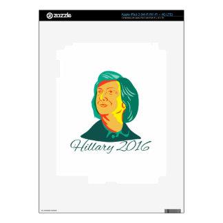 Presidente 2016 de Hillary Clinton Demócrata Retro Pegatina Skin Para iPad 3