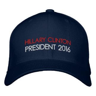 Presidente 2016 de HILLARY CLINTON Gorras De Béisbol Bordadas