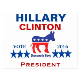 Presidente 2016 de Hillary Clinton Tarjetas Postales