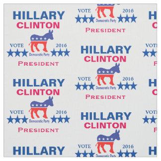 Presidente 2016 de Hillary Clinton Telas