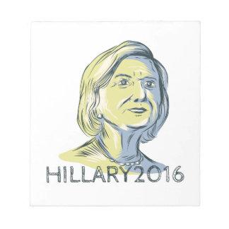 Presidente 2016 de Hillary Drawing Libreta Para Notas