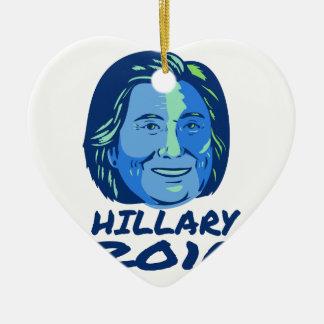Presidente 2016 de Hillary retro Adorno Navideño De Cerámica En Forma De Corazón