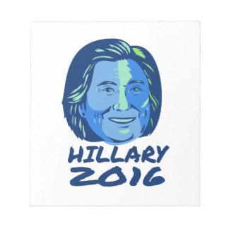 Presidente 2016 de Hillary retro Libreta Para Notas