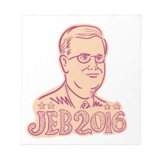 Presidente 2016 de Jeb Bush Cartoon Bloc De Notas