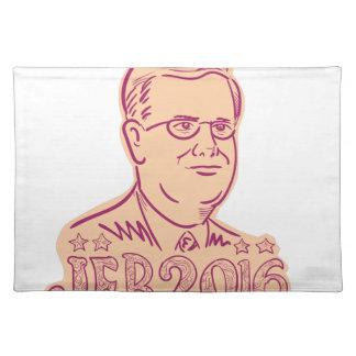 Presidente 2016 de Jeb Bush Cartoon Mantel