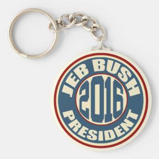Presidente 2016 de Jeb Bush Llavero Redondo Tipo Pin