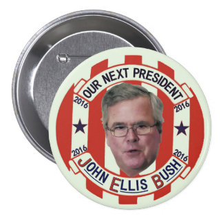 Presidente 2016 de Jeb Bush Pin Redondo De 3 Pulgadas