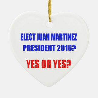 ¿Presidente 2016 de Juan Martínez - sí o sí? Adorno Navideño De Cerámica En Forma De Corazón
