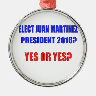 ¿Presidente 2016 de Juan Martínez - sí o sí? Adorno Navideño Redondo De Metal