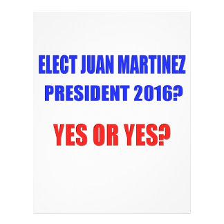 ¿Presidente 2016 de Juan Martínez - sí o sí? Membretes Personalizados