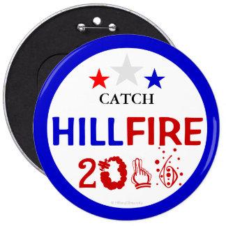 PRESIDENTE 2016 DE LA CAPTURA HILLFIRE HILLARY PIN REDONDO DE 6 PULGADAS