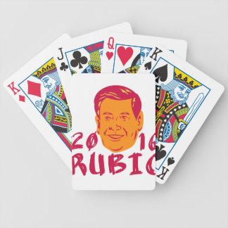 Presidente 2016 de Marco Rubio retro Baraja De Cartas