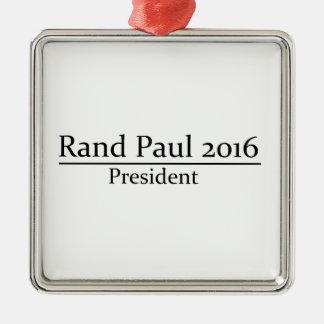 Presidente 2016 de Paul del rand diseño simple Adorno Navideño Cuadrado De Metal