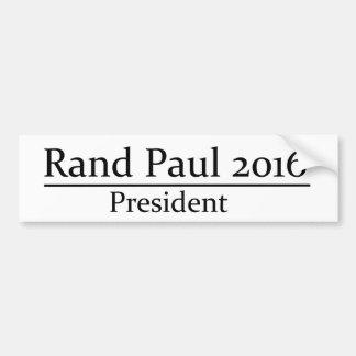 Presidente 2016 de Paul del rand diseño simple Pegatina De Parachoque