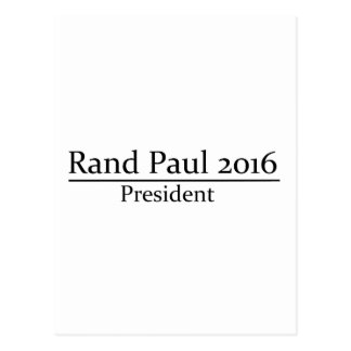Presidente 2016 de Paul del rand diseño simple Postal