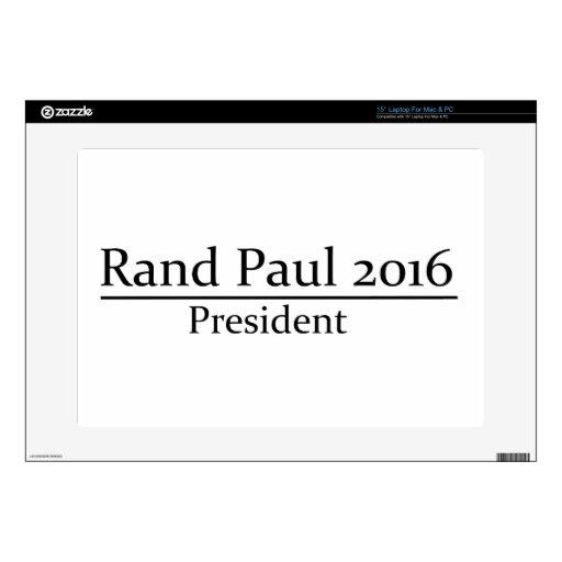 Presidente 2016 de Paul del rand diseño simple Portátil Skins