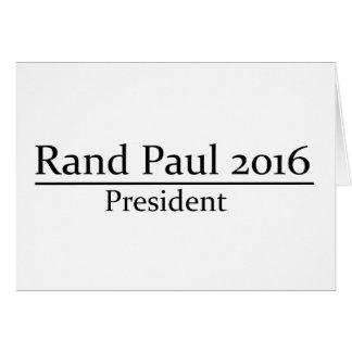 Presidente 2016 de Paul del rand diseño simple Tarjeta De Felicitación
