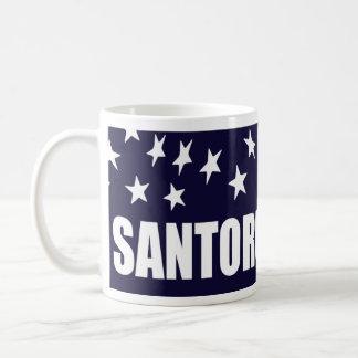 Presidente 2016 de Rick Santorum Taza Básica Blanca