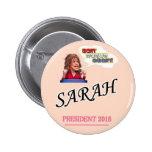 Presidente 2016 de Sarah Palin Pin Redondo 5 Cm