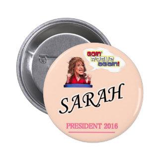 Presidente 2016 de Sarah Palin Pin Redondo De 2 Pulgadas
